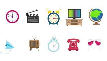 مجموعه آبجکت های آماده موشن گرافیک  اشیاء Objects Pack
